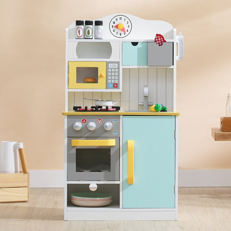 6 Tips For A Kitchen You Can Love For A Lifetime: Teamson Kids 5 Piece Little Chef Wooden Play Kitchen Set