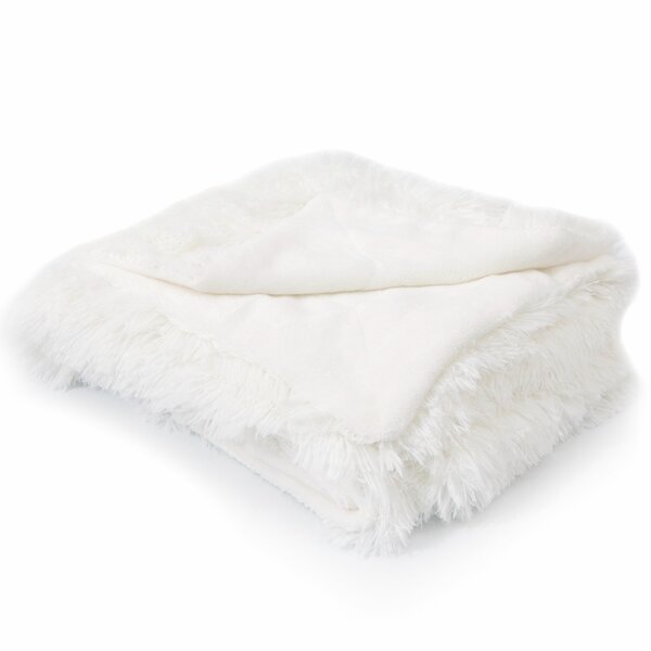 Shaggy Faux Fur Throw Wayfair