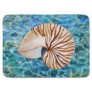 Newland Sea Shell And Water Memory Foam Bath Rug by Rosecliff Heights 2019 Sale