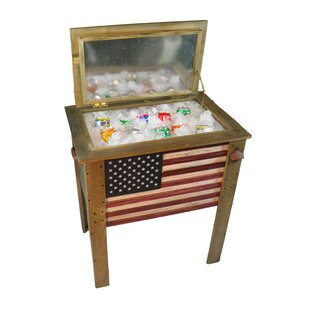 Backyard Expressions 57 Qt. Decorative Outdoor American Flag Cooler