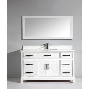 Shop For Junie Stone 60 Single Bathroom Vanity with Mirror By Gracie Oaks