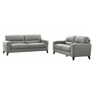 Lovelady 2 Piece Leather Living Room Set