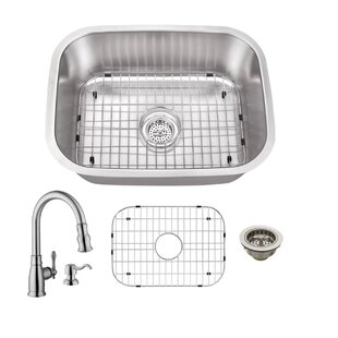 24 X 18 Undermount Bar Sink With Faucet And Soap Dispenser By Cahaba