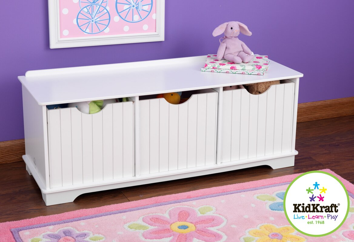 Kidkraft Nantucket Storage Bench Amp Reviews Wayfair