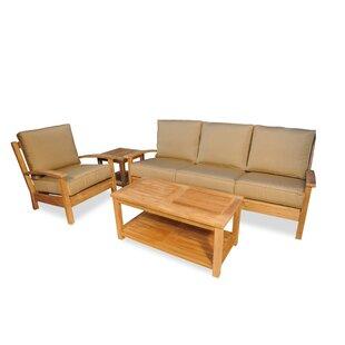 Phenomenal Teak 4 Piece Sunbrella Sofa Set With Cushions Pdpeps Interior Chair Design Pdpepsorg