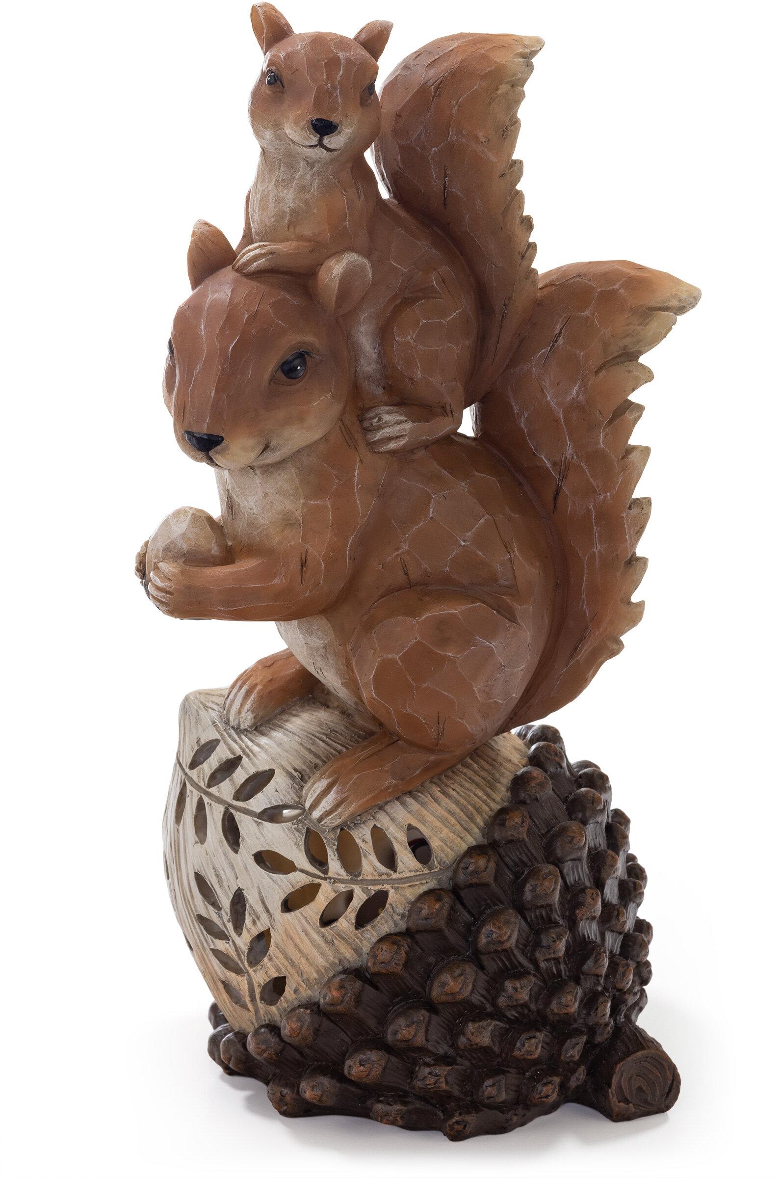 Squirrel Solar Garden Statue