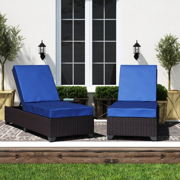 Sol 72 Outdoor Fernando Sun Lounger Set with Cushions and ...