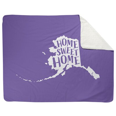 Home Sweet Alaska Fleece Throw East Urban Home Size 52 5 W X 62 5 L Color Purple Sportspyder