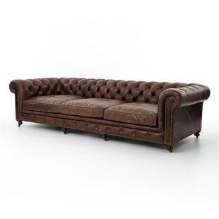 Greenwood Village Cigar Chesterfield Leather Sofa by Trent Austin Design New