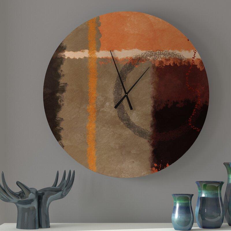 Ebern Designs Utmost Heteroclite Abstract Wall Clock Wayfair