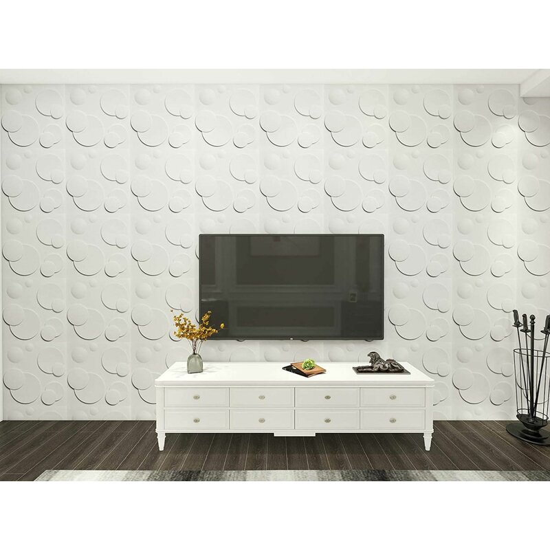 Porpora 20 X 20 Vinyl Wall Paneling In Bright White Wayfair