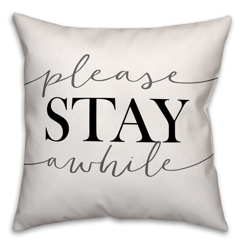 "Pashkhi Please Stay Awhile 18"" Throw Pillow"