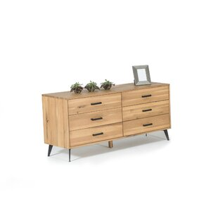 Hill Modern 6 Drawer Double Dresser