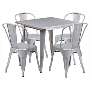 Square 5 Piece Dining Set by Offex