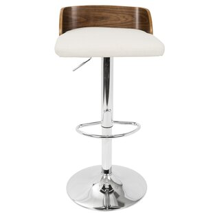 Rockaway Adjustable Height Swivel Bar Stool Wade Logan