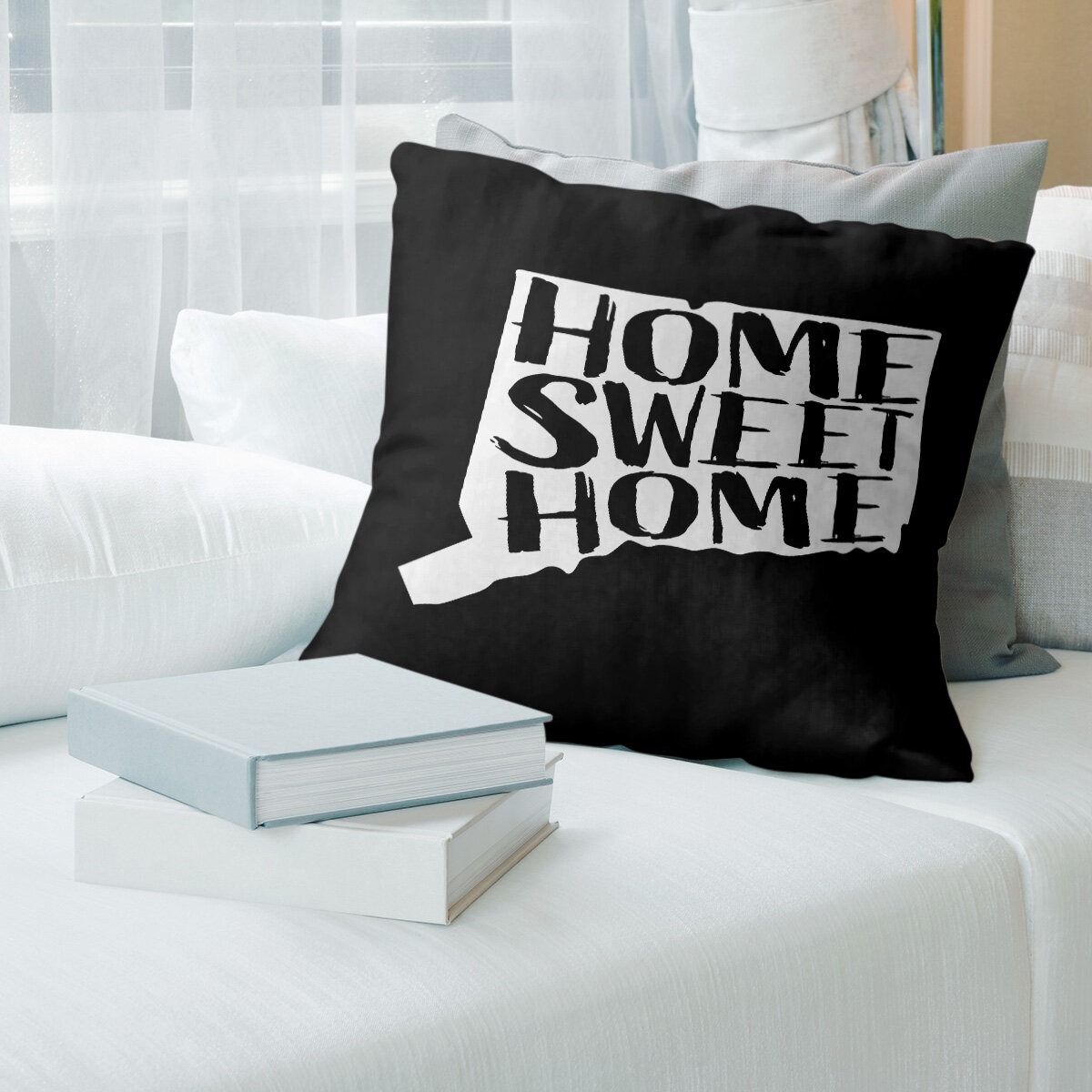 East Urban Home Home Sweet Connecticut Pillow Wayfair
