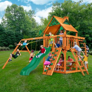Gorilla Playsets Navigator with Amber Posts Cedar Swing Set