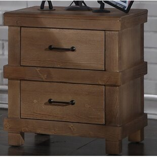 Low priced Olson 2 Drawer Nightstand by Loon Peak