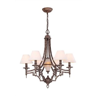 Fleur De Lis Living Glenda 6-Light Shaded Chandelier