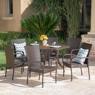 Outdoor 7 Piece Dining Set by Highland Du..