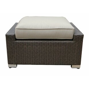 World Wide Wicker Tampa Ottoman with Cush..