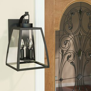 Silver Gulch 3-Light Outdoor Wall Lantern by Red Barrel Studio