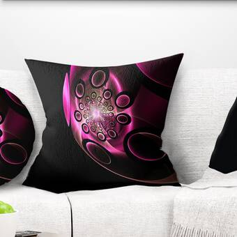 East Urban Home Abstract Portrait Girl With Flowers Wreath Lumbar Pillow Wayfair