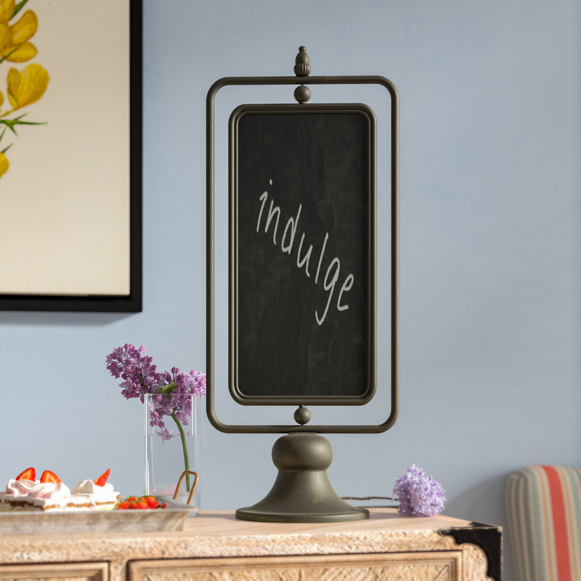 Laurel Foundry Modern Farmhouse Metal Free Standing Chalkboard Reviews Wayfair