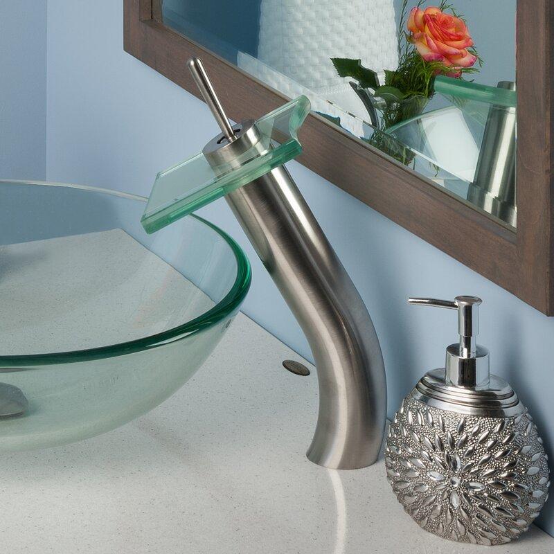 Bathroom Waterfall Faucet novatto single handle waterfall faucet & reviews | wayfair