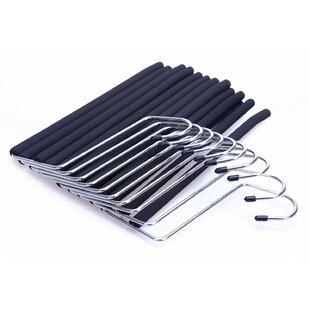 Online Reviews Burson 2-Tier Open Ended Slack Pant Metal Hanger (Set of 10) By Rebrilliant