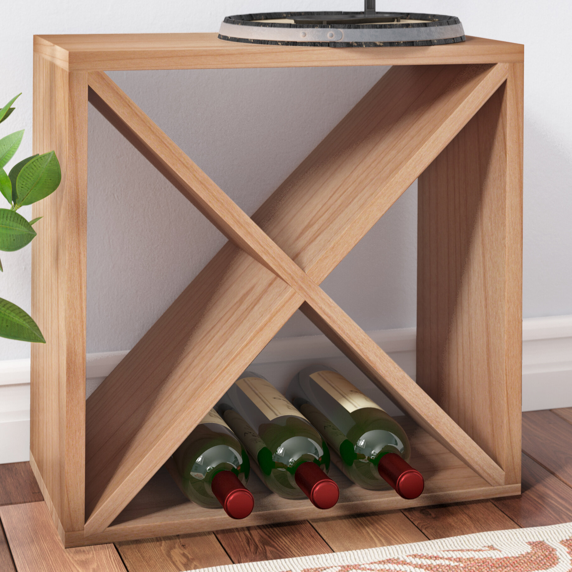Red Barrel Studio Lexington 24 Bottle Tabletop Wine Rack Reviews Wayfair