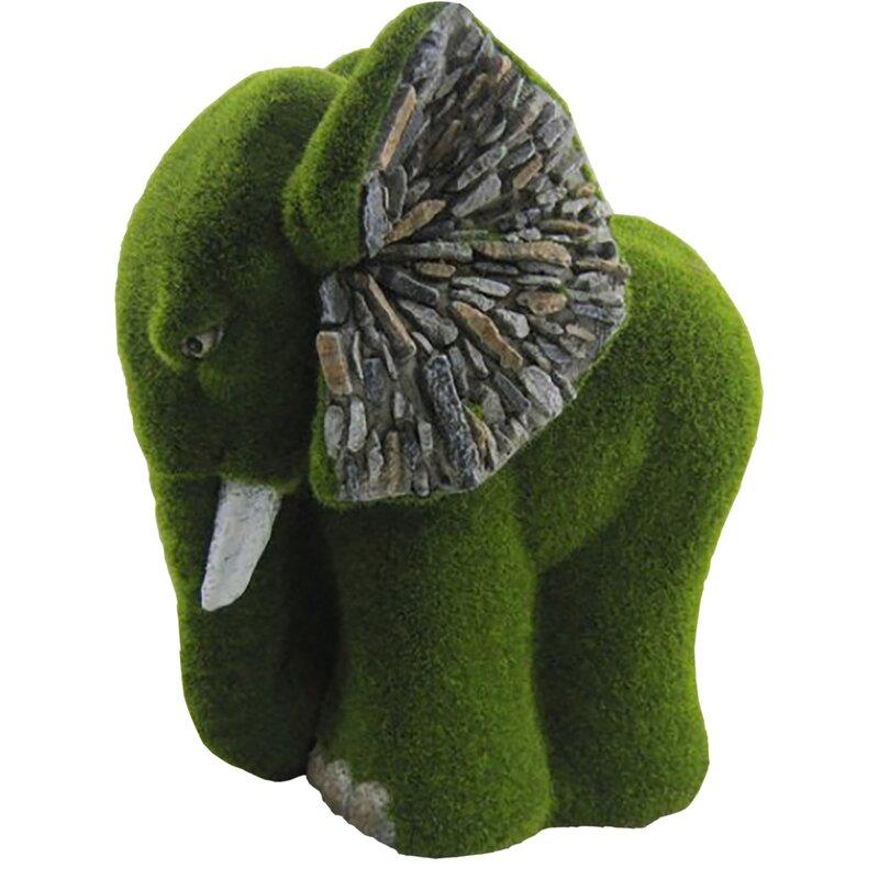 Sol 72 Outdoor Bruyelle Elephant Flocked Statue | Wayfair ...