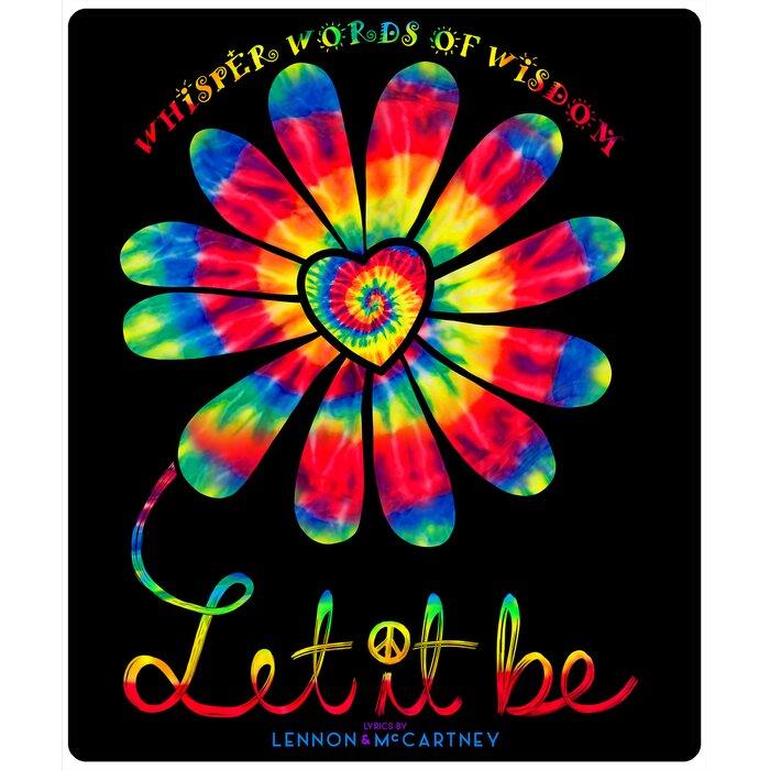Lennon and Mccartney Let It Be Flower Power Throw