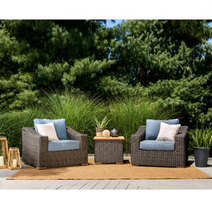 New Boston 3 Piece Sunbrella Sofa Seating Group with Cushion