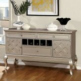 Suzan 59 Wide 3 Drawer Walnut Wood Buffet Table by House of Hampton®