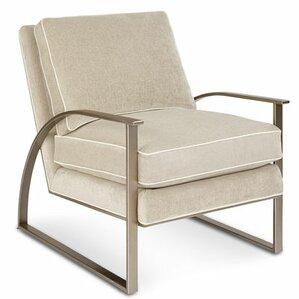 Alvina Metal Frame Armchair by Gracie Oaks