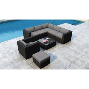 Glendale 8 Piece Sectional Set with Sunbrella Cushion