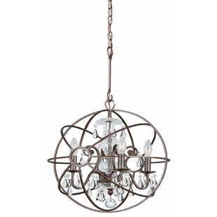 Rodrigues 4-Light Globe Chandelier by Willa Arlo Interiors