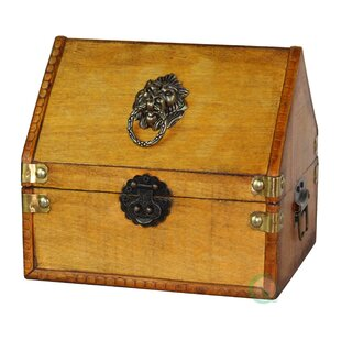 Quickway Imports Small Pirate Chest with Lion Rings