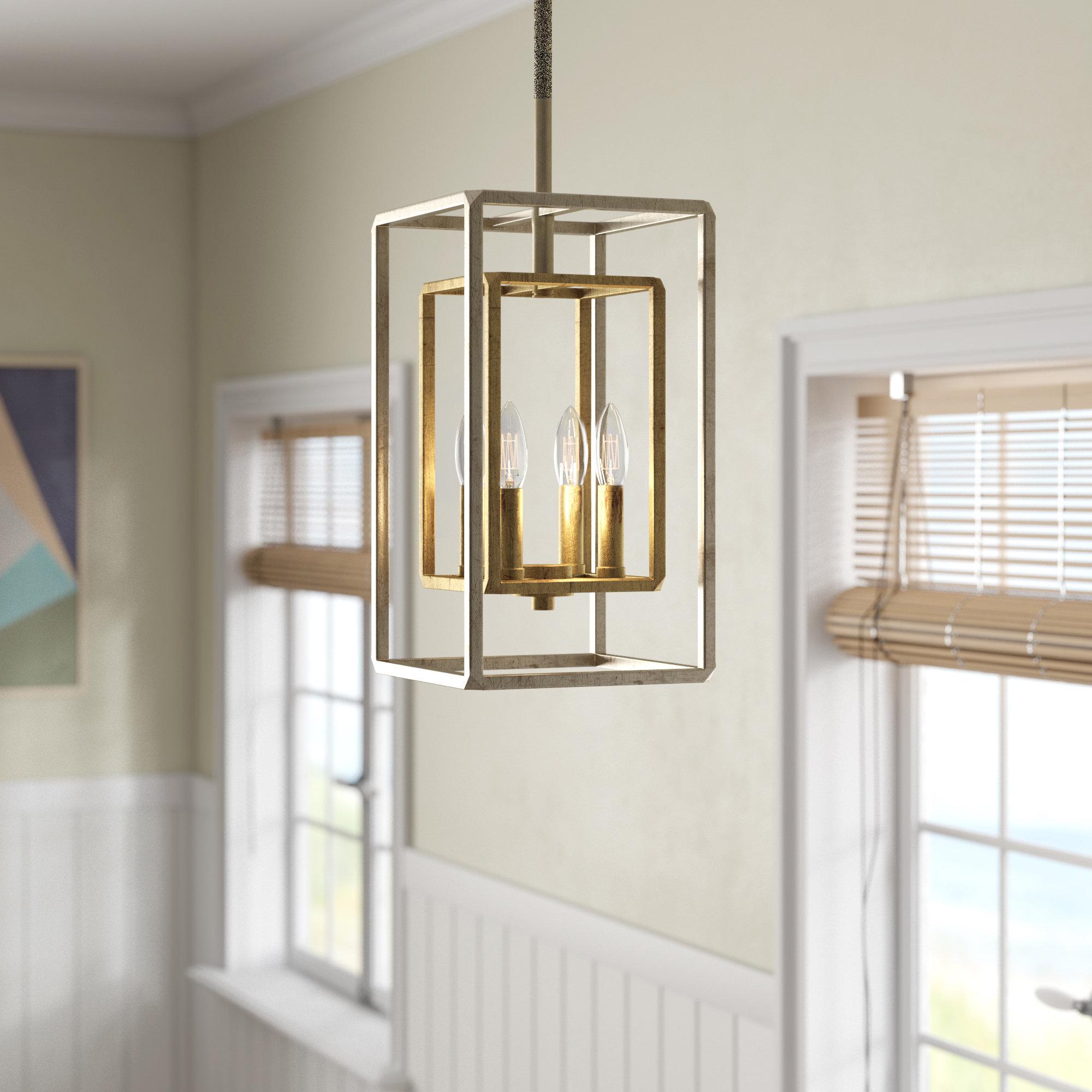Aldo 4 Light Lantern Rectangle Pendant Reviews Joss Main