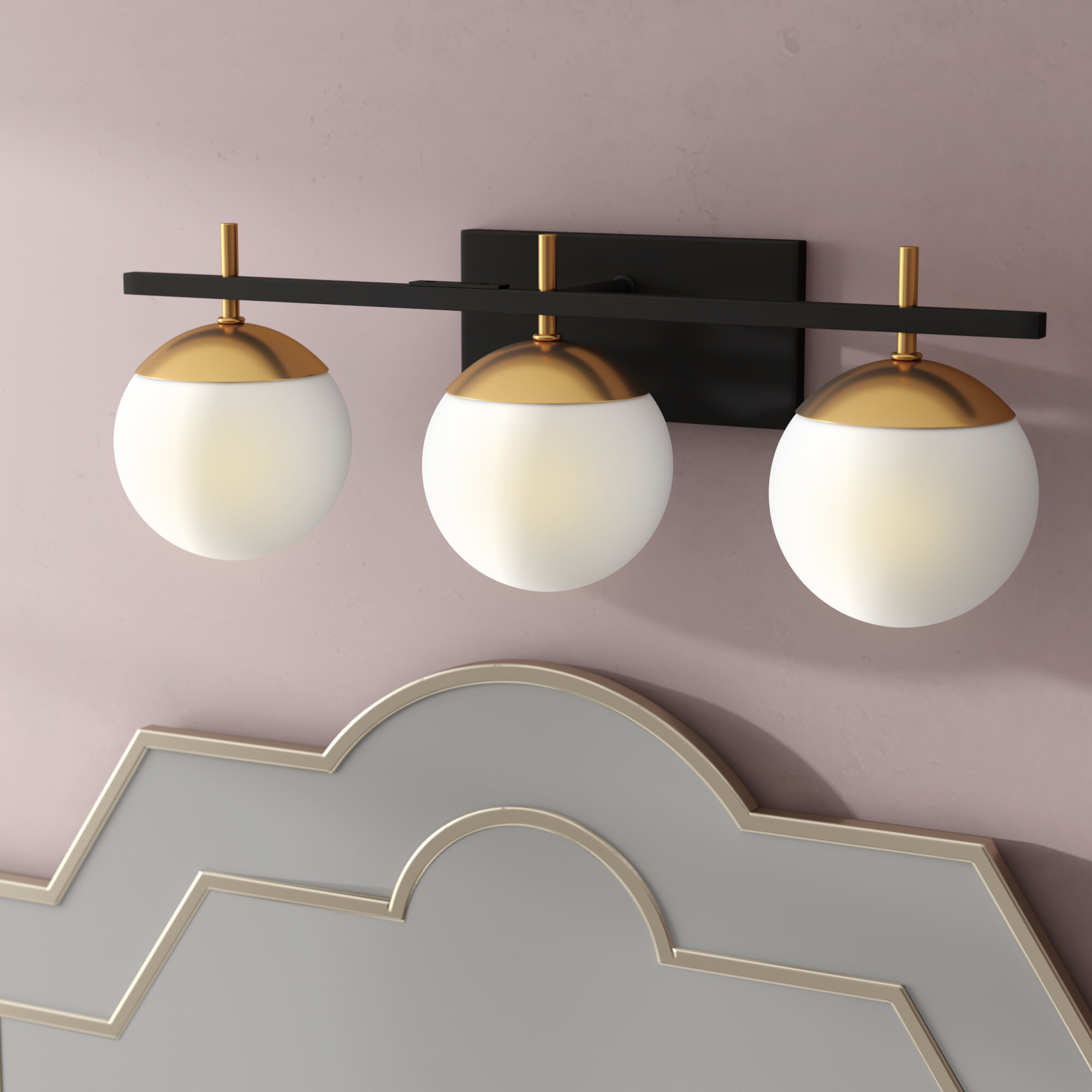 Mercer41 rosanne 3 light vanity light reviews wayfair