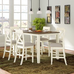 Darby Home Co Nadine 7 Piece Counter Height Breakfast Nook Dining Set