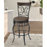 Bennet 30 Swivel Bar Stool by Fleur De Lis Living