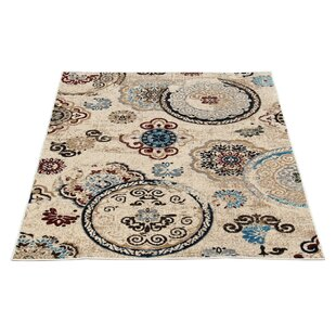 Price comparison Doreen Decorative Modern Contemporary Southwestern Beige/Black Area Rug By Winston Porter