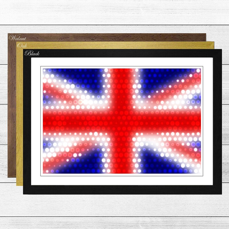Big Box Art \'Union Jack British Flag (6)\' Framed Graphic Art ...