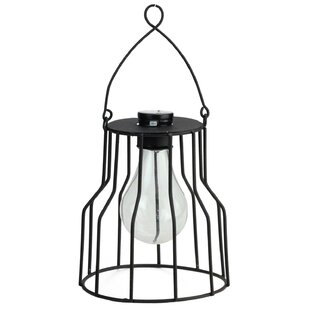 Wilson Solar Powered 1-Light LED Outdoor Metal Hanging Lantern by Williston Forge
