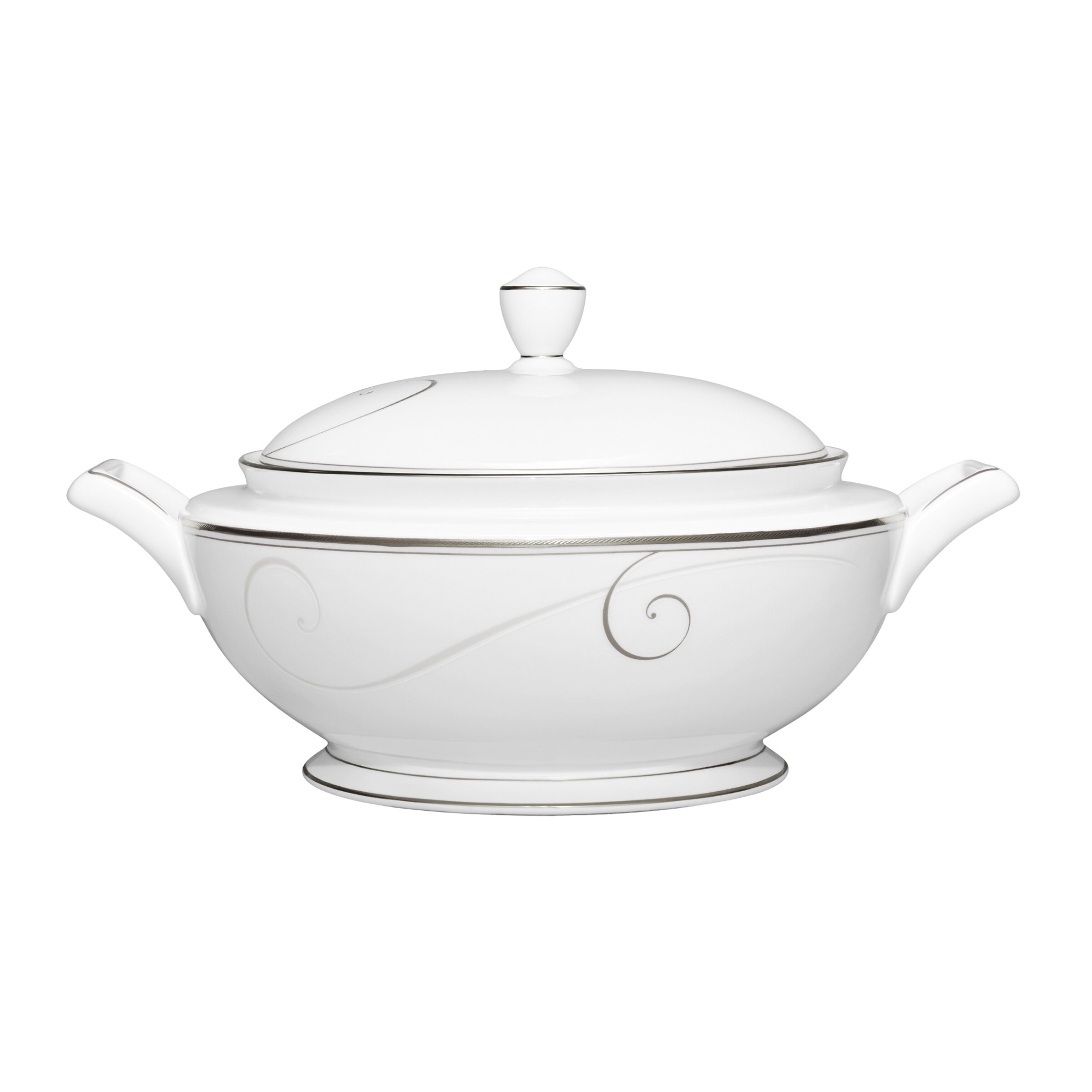 Noritake Platinum Wave 67 oz  Covered Vegetable Bowl | Wayfair
