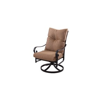 Darby Home Co Carlitos Modern Swivel Patio Dining Chair with Cushion