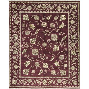 One-of-a-Kind Reme Hand-Knotted Red/Gold Indoor Area Rug ByBokara Rug Co., Inc.