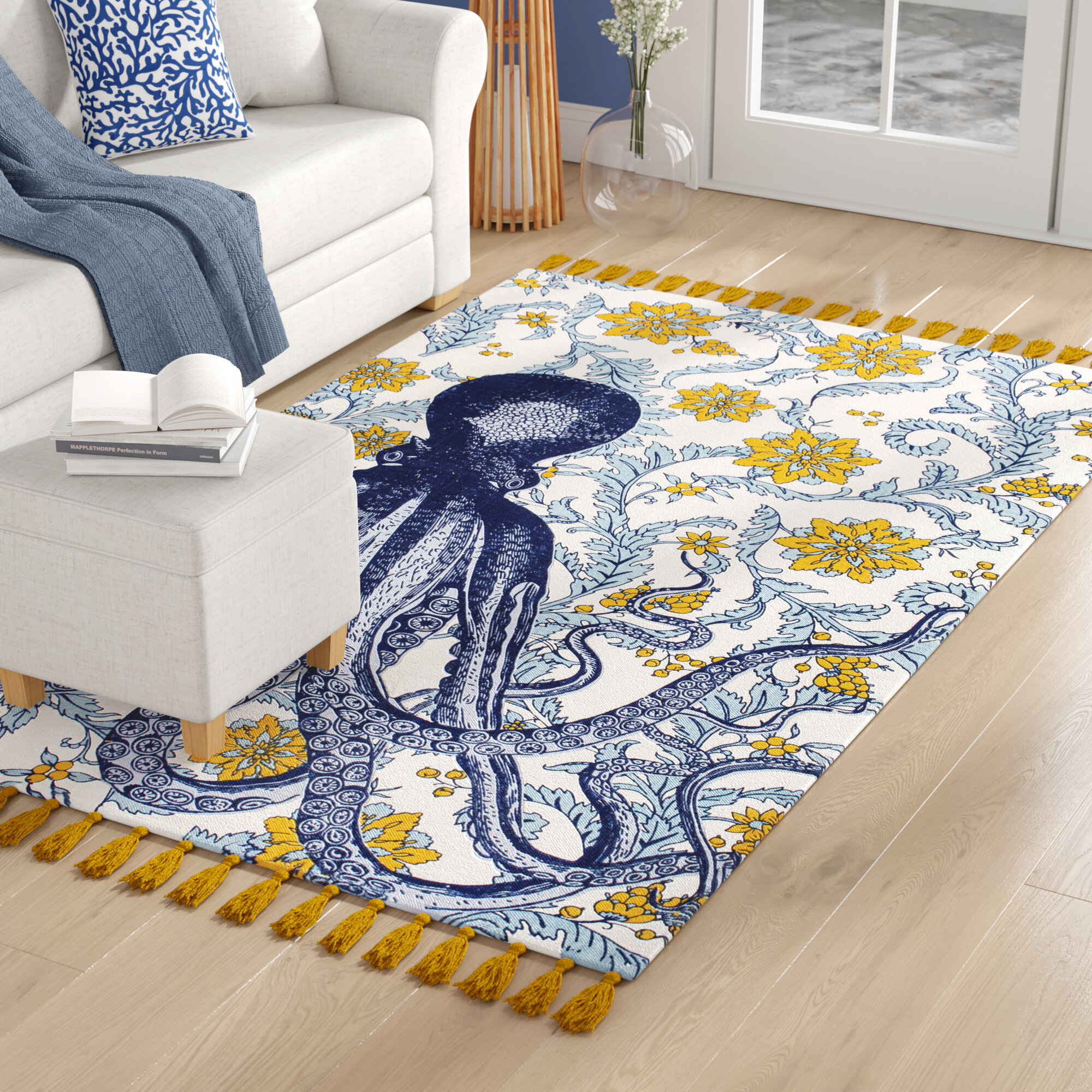 Nautical Yellow Gold Area Rugs You Ll Love In 2021 Wayfair